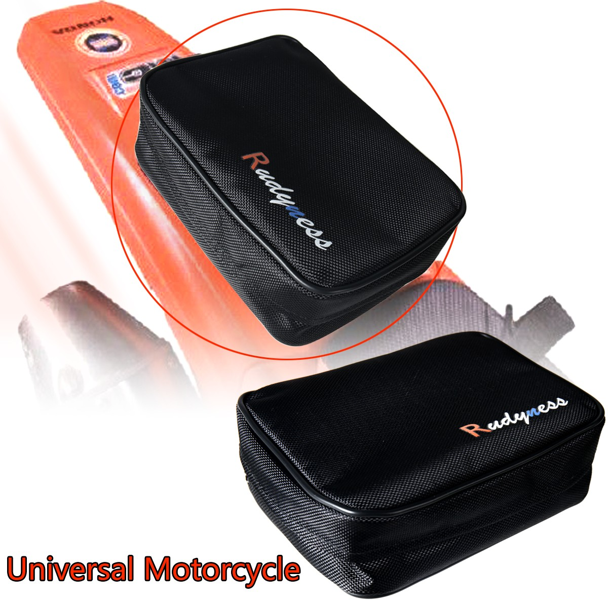 Rear Black Fender Pack Tool Bag Fit For ATV KTM CRF Dirt Bike Enduro&Universal Motorcycle Fender